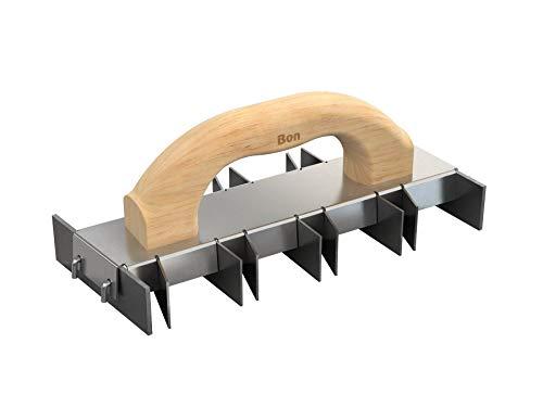 Bon 13-141 Chemin de fer d'angle avec manche en bois 25,4 x 10,2 cm