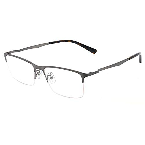 Myopia Rahmen - Unisex Black Metal Frames (Color : Gray)