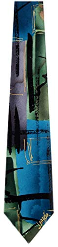 Jerry Garcia JG-7458 Designer Krawatte, Seide, Grün -