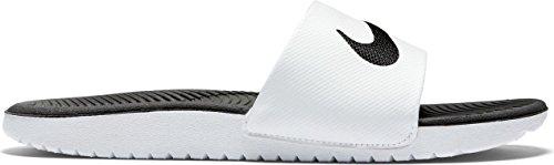 Nike Kawa Slide (Gs/Ps), Tongs Garçon Blanc / Noir (Blanc / Noir)