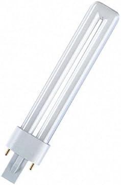 Osram Dulux S–Tubo fluorescente halógeno compacto (840, G23, 11W, luz blanca fría)