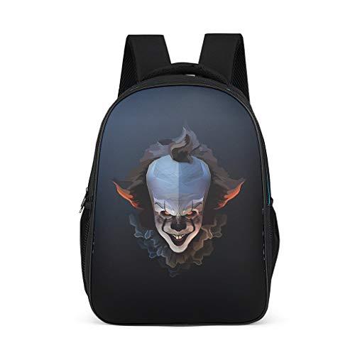 QVOOD Kinderrucksack Schulrucksack Halloween-Clown Kinder-Rucksack Kindergartentasche Kindergartenrucksack Niedlicher Büchertasche für Kinder Grey OneSize