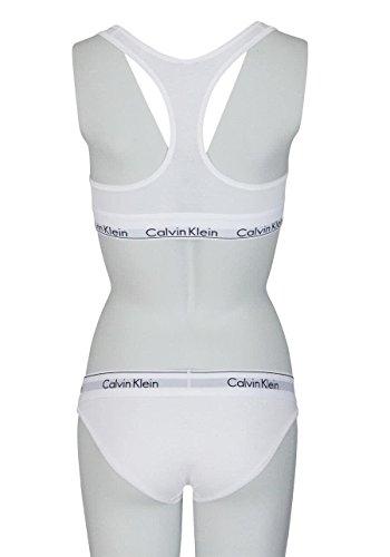 Calvin Klein Damen Bralette Dreieck BH, Weiß (White 100), (Herstellergröße: XL) - 3