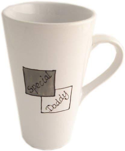 Spécial Daddy Latte Mug (Gris/Blanc)