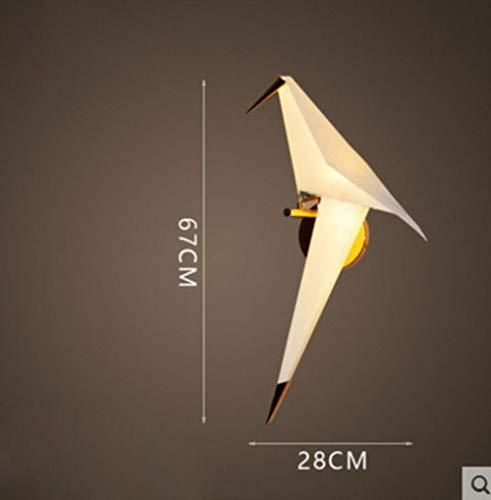 Nordic-Vogel-Eisen-Anhänger-Licht Papierkranich LED-Lampe Pendelleuchte Loft Wohnzimmer Restaurant Pendelleuchte, 1 Licht Wandlampe, kaltes Weiß # 864 -