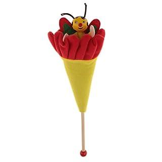Gazechimp Jeux de Cache-cache Animaux Cacher Et Chercher Multicolore en Bois Tissu Jouets Enfants Bébés Cadeau Anniversaire Noël Fête - Abeille