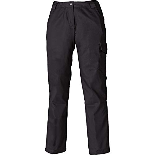 Dickies Damen Redhawk Arbeitshose / Hose, reguläre Länge (38 DE) (Schwarz) - Dickies Damen-hose