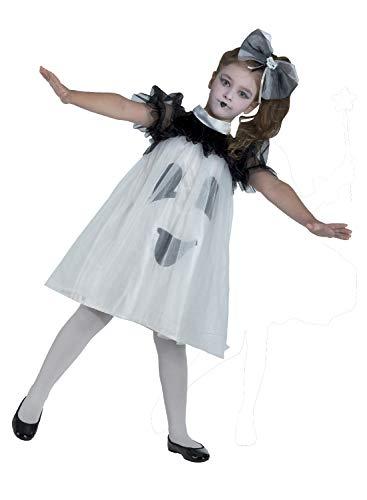 Clown Republic 75508/08 - Disfraz de fantasma para niña, multicolor