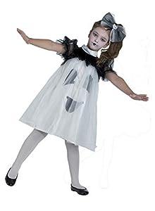 Clown Republic - Disfraz de fantasma para niña, 75504/04, multicolor