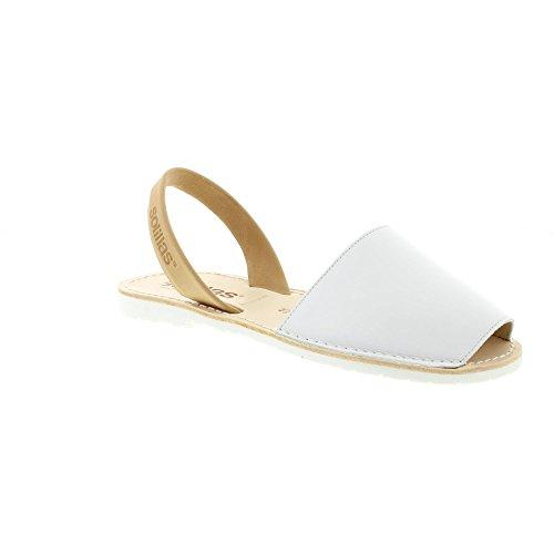 Solillas, Sandali donna Bianco White/Tan Bianco (White/Tan)