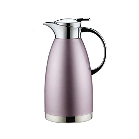 Haosen 1.8 Litre Stainless Steel Thermal Coffee Carafe, Double Walled Vacuum Insulated Coffee Pot Thermal Jug - Leak Proof and Heat Cold Retention