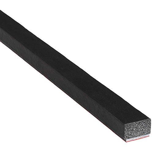 forma de D, 10 mm de ancho x 10 mm de alto M M Seals A079 Sello para puerta color negro
