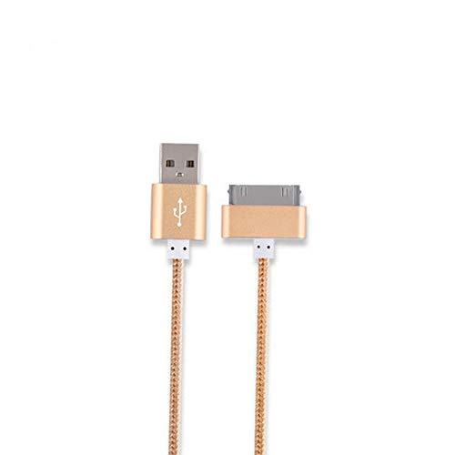 H&T 30-poliges USB-Synchronisierungs- und Ladekabel, kompatibel mit iPad 3, iPad 2, iPad 1, iPod, iPhone 4 / 4S, iPhone 3G / 3GS,Gray Iphone 3g Sync