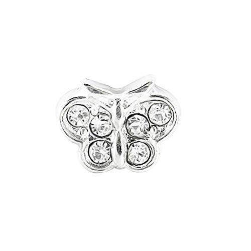 AKKi jewelry Element für Medaillon Kette,Petite Charms Elemente Pandora Style kompatibel Locket Memories Damen Schmuck Set Angebot Schmeterling
