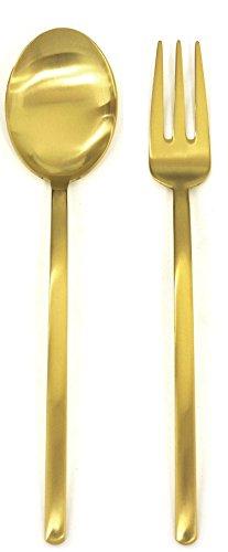 Mepra 108044110 - Cubertería especial unificada, color dorado, lote de 2 unidades
