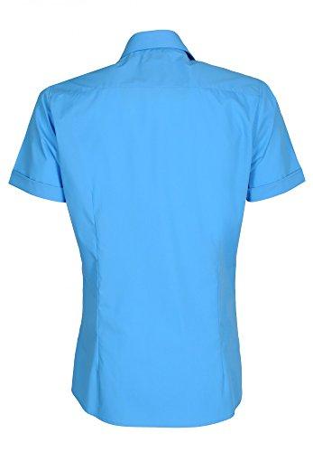 Michaelax-Fashion-Trade -  Camicia Casual  - Basic - Classico  - Maniche corte  - Uomo Blu (16)