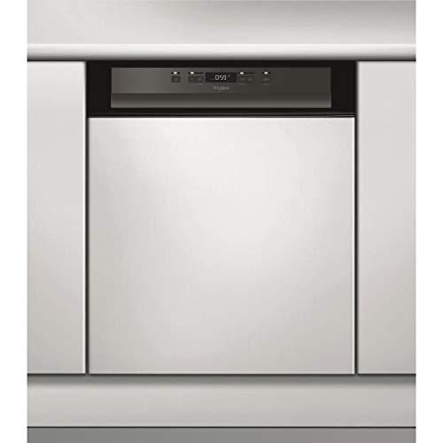WHIRLPOOL - Lave-vaisselle 60cm 14c 44db a++ intégrable avec bandeau noir - SUPREME CLEAN - WBC3C24PB
