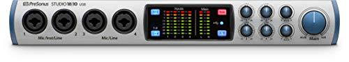PRESONUS Studio 18108Kanäle 20-20.000Hz Silber-Tische Mischpult Audio (8Kanäle, 24Bit, 20-20000Hz, 18dB, 192kHz, 1000000Ohm) (Studio Presonus Mic)