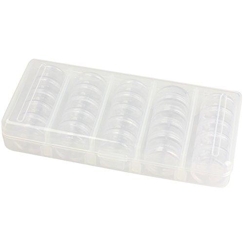 La Cabina Nail Art Boîte De Rangement Plastique Case Organizer Vide 25 Compartiments Coffret Vernis à Ongle