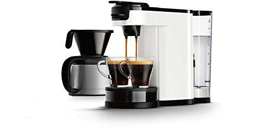 Philips HD7892/01 Senseo Switch Kaffeevollautomat, 2 in 1, Weiß 1 l, Kaffeepads und...