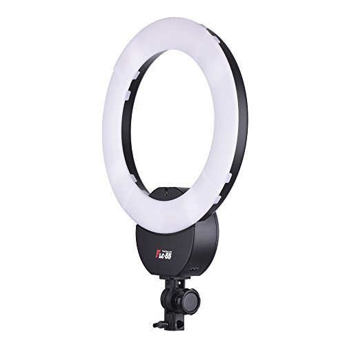 FalconEyes FLC-55 16 Inch Fluorescent Video Ring Light Lamp 55W 5600K Studio Portrait Photography Lighting with White Filter