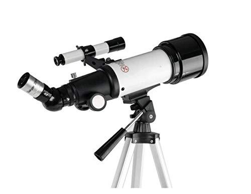 Telescopio Monocular Refractor Espacio Telescopio Astronómico Telescopio para Principiantes Ver Luna Y Planeta Alcance de Viaje,Blanco,Telescopio