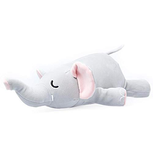 Auto Schlafzubehör Elefant Tierform Wendbare Reise Nackenkissen für Flugzeug,Light Grey,W28XD8XH25cm or Customize