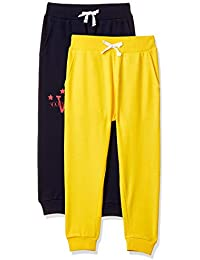 Amazon Brand - Jam & Honey Boys' Trousers (Pack of 2)