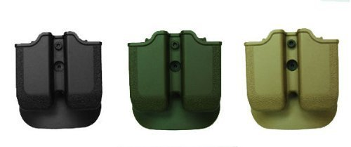 Concealed Carry Magazine Pouch for Sig Sauer P250 .45 ACP, Taurus .45 ACP 24/7 OSS, H&K USP .45 and H&K 45C, 1911 .45 double stack magazine. Black by IMI RSR Defense -