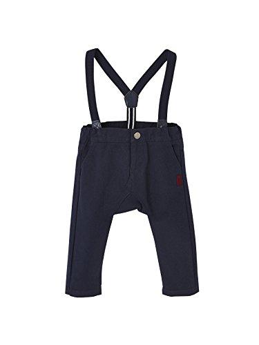 9c4964f4c209f Vertbaudet Pantalon à Bretelles bébé garçon en Toile Marine grisé 9M - 71CM