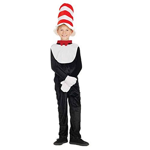 Kostüm, Unisex Children, Cat with a Hat Hat, XL ()