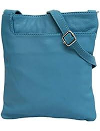 795f26accecd96 AMBRA Moda Italienische Ledertasche Schultertasche Crossover Umhängetasche  Nappaleder Damen Kleine Tasche NL611