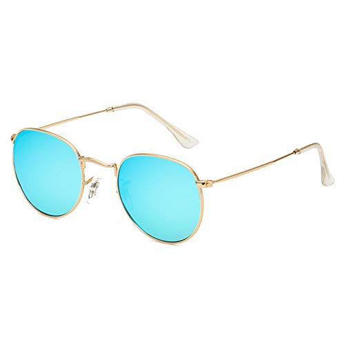 AAMOUSE Sonnenbrillen Retro männliche runde Sonnenbrille-Frauen-Mann-Entwerfer-Sonnenbrille für Frauen-Legierungs-Spiegel-Sonnenbrille Ray Ladies Retro