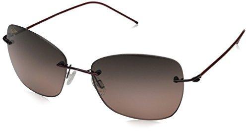 Maui Jim Apapane Polarized Sunglasses - Women's Burgundy with Red Sleeve / Maui Rose One Size by Maui Jim