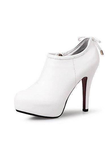 WSS 2016 Chaussures Femme-Mariage / Habillé / Soirée & Evénement-Noir / Rouge / Blanc-Talon Aiguille-Talons / A Plateau / Bottine / Bout Pointu / red-us5 / eu35 / uk3 / cn34