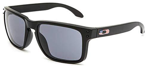 Oakley SI Holbrook USA Flag, Matte Black Frame, Grey Lens OO9102-E655