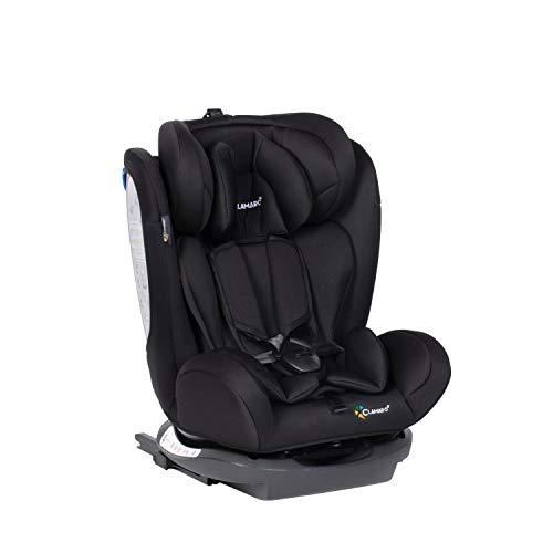 Clamaro \'Ranger 4in1\' Isofix Autokindersitz Gruppe 0+, I, II und III (0-36 kg), mitwachsender Baby- und Kinderautositz ab 0 bis 12 Jahre, verstellbare Kopfstütze und Rückenlehne, Schwarz