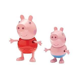 Peppa Pig – Blister 2 Figurines en Vacances – Peppa et George en Brassards de Bain