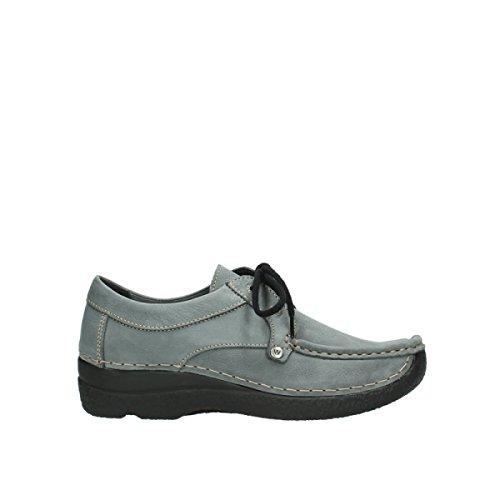 Chaussures Wolky Lacets Nubuck Grigio À Passeggiata Comodità 10220 Seamy R47qw1H