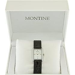 Montine DN00S4LIPS White Dial Black Strap