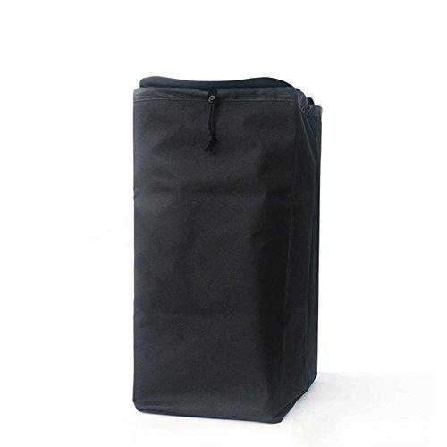 QINAIDI Aufbewahrungstasche, Abnehmbare Einkaufstasche Schwarz Umweltschutz Paket, Tröster/Bettwäsche/Quilt/Kissen Speicherorganisator Tasche, Warenkorb Abnehmbare Einkaufstasche, Schwarz