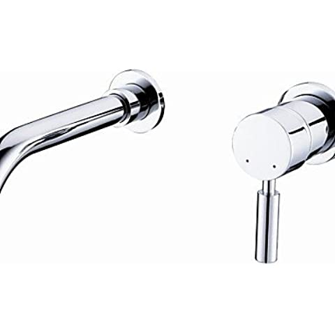 XMQC*Válvula de Cerámica Contemporánea solo manejar dos agujeros con baño de cromo grifo de