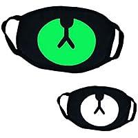 Biback Máscara Luminosa Fluorescente Halloween frío Transpirable de algodón Cómoda Delicada máscara de Cosplay, 1