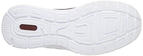 Rieker B4870 Loafers & Mocassins-men Herren Slipper Grau (polvere/dust/weiss / 45)