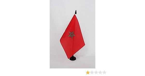 Piccola BANDIERINA Impero COLONIALE Francese 14 x 21 cm AZ FLAG Bandiera da Tavolo PROTETTORATO Francese del Marocco 1912-1956 21x14cm
