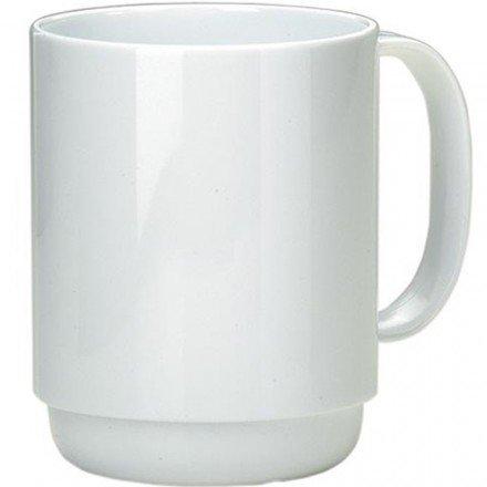 l weiß | hochwertiger, stabiler Kaffeebecher aus Kunststoff mit Henkel | robustes Alltags-Geschirr für Kinder, Camping, Picknick, Gemeinschaftsverpflegung, Großküchen, Institutionen  | Kaffeetasse, Mehrweg-Becher, Teetasse (Kunststoff-becher Mit Henkel)