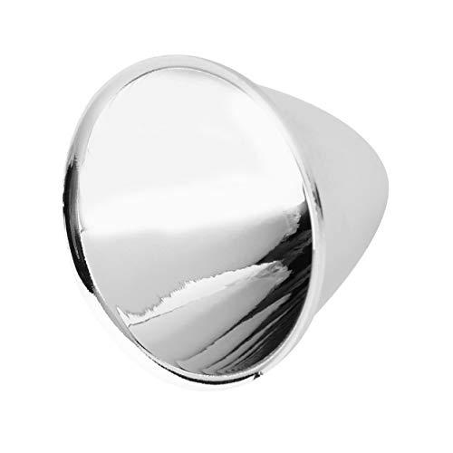 1 stücke ersatz aluminium reflektor tasse für c8 xm-l taschenlampe diy leicht einfach zu installieren keine werkzeuge benötigt silber (Reflektor-taschenlampe)