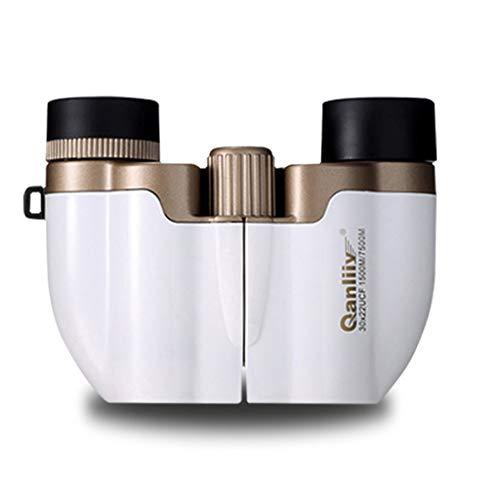 SYFO Mini-Taschenfernrohr - High Power HD-Fernglas - Konzert, Fußballturnier-Uhrglas -30x22 Teleskop (Farbe : Weiß)