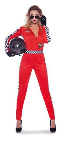 Folat 21941 Rennen Damen Rennfahrer Formel 1 Sexy Jumpsuit, S-M, rot