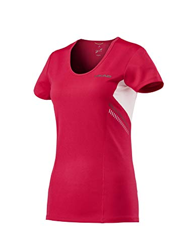 HEAD Damen Club Technical Shirt Women T, rot, S